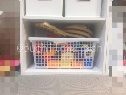 ニトリのカラーボックスでおもちゃ収納